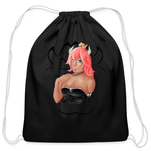 Bowsette - Cotton Drawstring Bag
