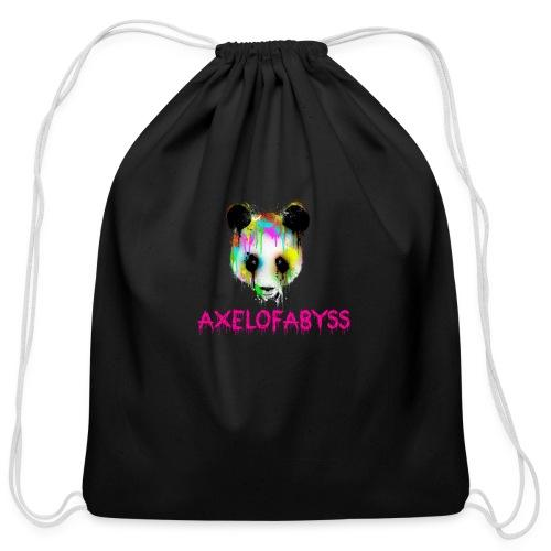 Axelofabyss panda panda paint - Cotton Drawstring Bag
