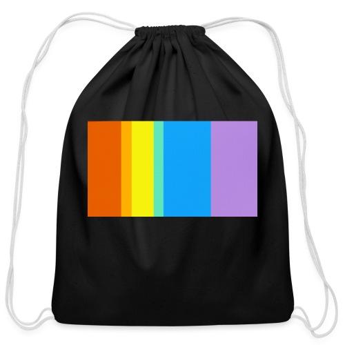 Modern Rainbow - Cotton Drawstring Bag