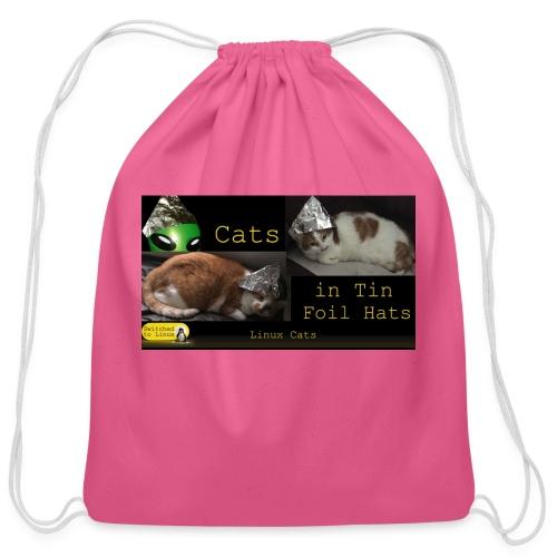 Cats in Tin Foil Hats - Cotton Drawstring Bag
