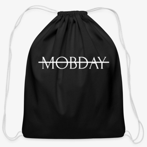 Mobday Cross Out Logo - Cotton Drawstring Bag