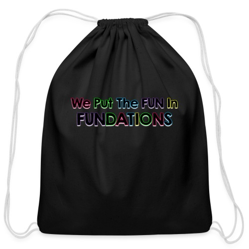fundations png - Cotton Drawstring Bag