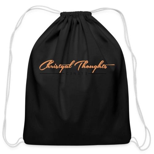 Christyal Thoughts C3N3T31 O - Cotton Drawstring Bag