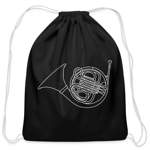 French horn brass - Cotton Drawstring Bag