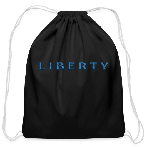 Liberty Libertarian Design - Cotton Drawstring Bag