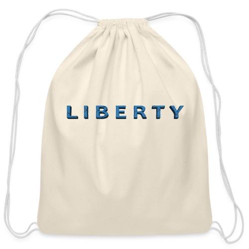 Liberty Libertarian Design - Cotton Drawstring Bag