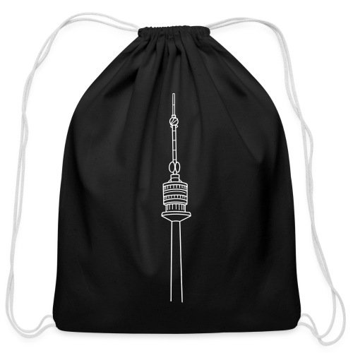 Danube Tower Vienna - Cotton Drawstring Bag
