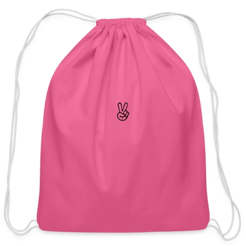 Peace J - Cotton Drawstring Bag
