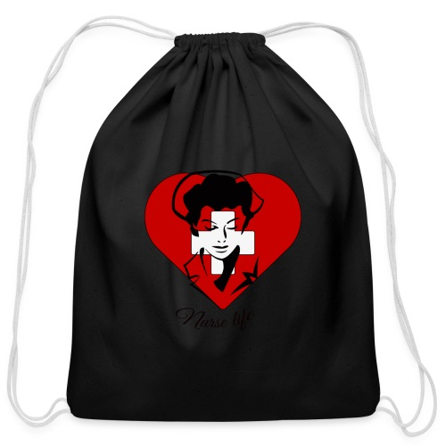 nurselife - Cotton Drawstring Bag