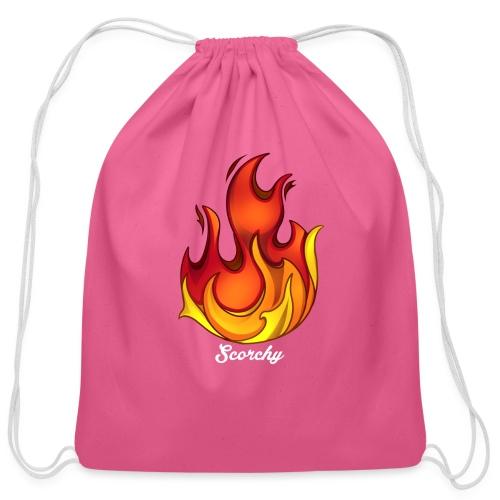 Scorchy White Logo - Cotton Drawstring Bag