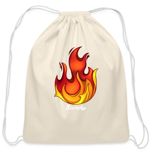 Scorchy White Logo - Cotton Drawstring Bag