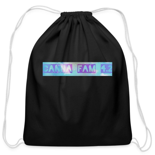 Canna fams #3 design - Cotton Drawstring Bag