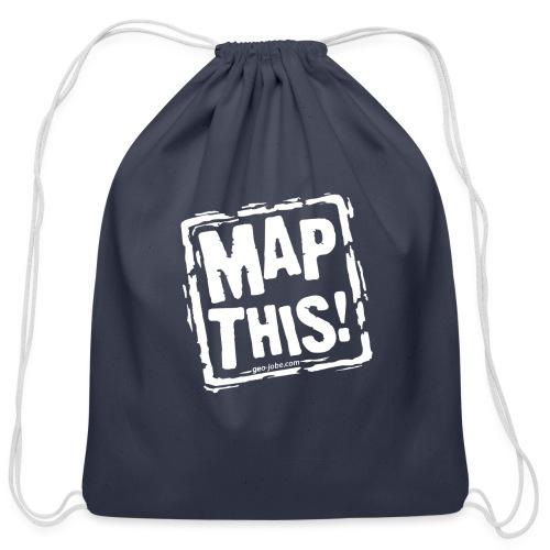 MapThis! White Stamp Logo - Cotton Drawstring Bag