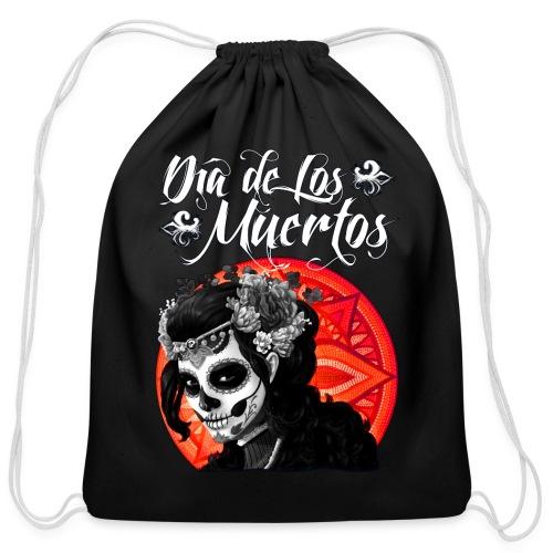 Dia de Los Muertos 01 - Cotton Drawstring Bag