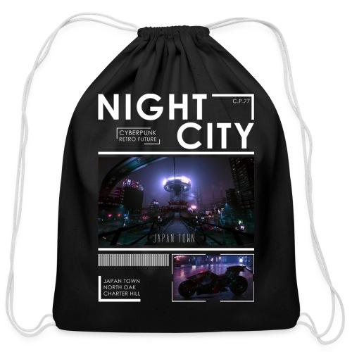Night City Japan Town - Cotton Drawstring Bag