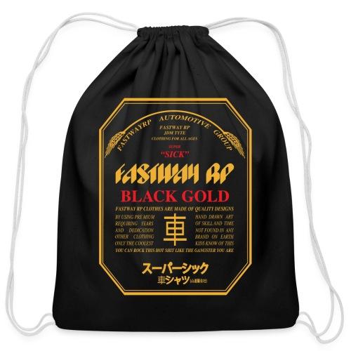 Fastway Beer Can Black Gold - Cotton Drawstring Bag