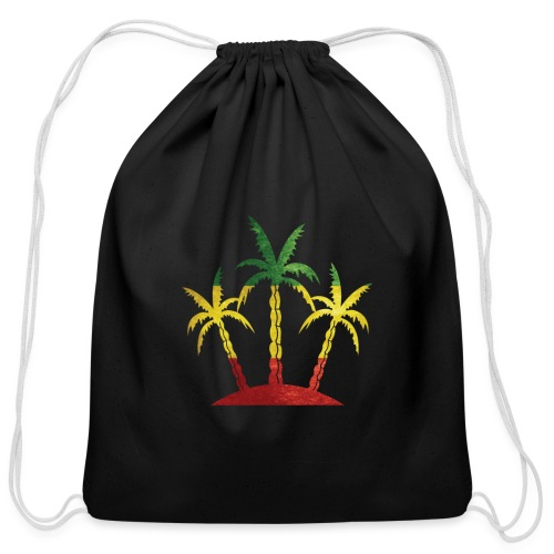 Palm Tree Reggae - Cotton Drawstring Bag