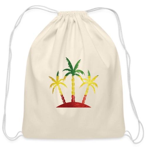 Palm Tree Reggae - Cotton Drawstring Bag