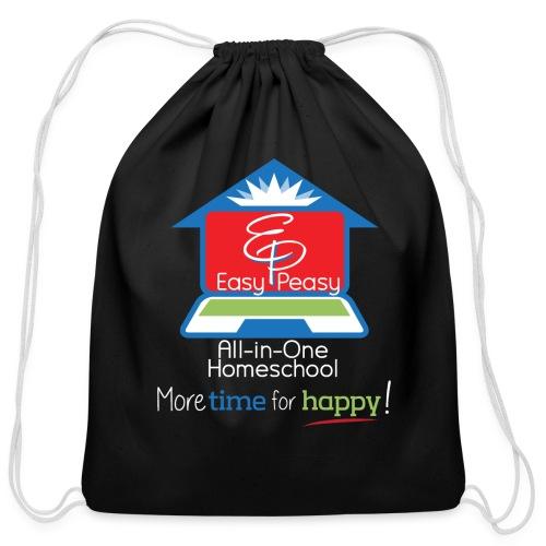 EZPZ Logo All-in-One Homeschool and Tagline - Cotton Drawstring Bag