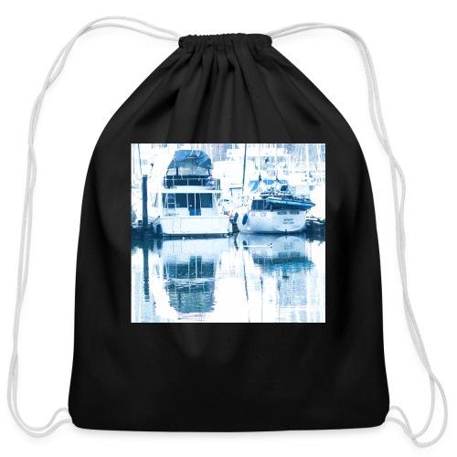 December boats - Cotton Drawstring Bag
