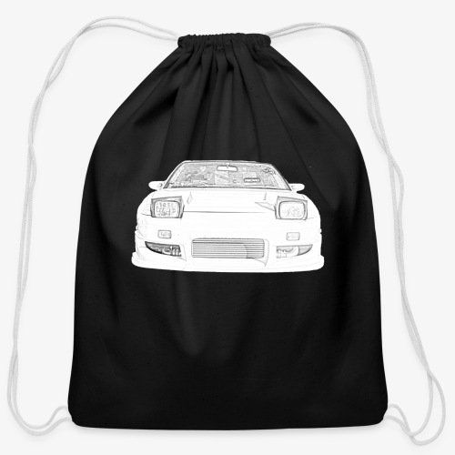 180sx skeched - Cotton Drawstring Bag