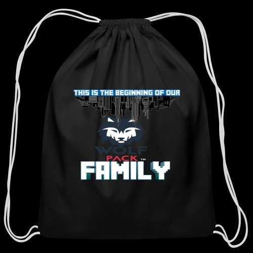 We Are Linked As One Big WolfPack Family - Cotton Drawstring Bag