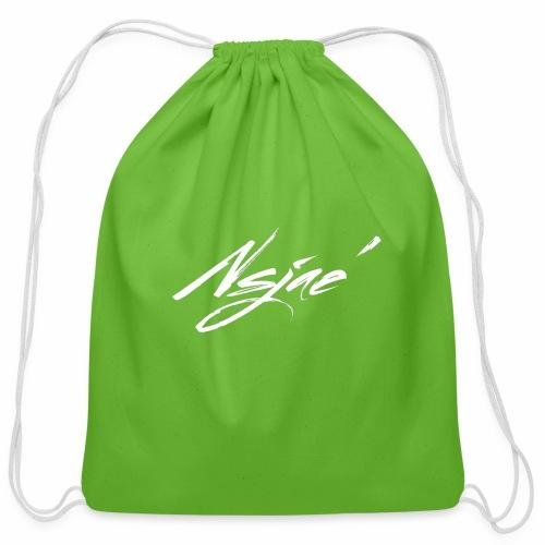 NSJAE White - Cotton Drawstring Bag