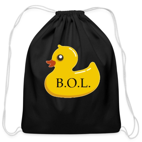 Official B.O.L. Ducky Duck Logo - Cotton Drawstring Bag