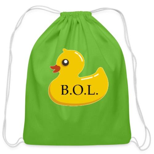 Official B.O.L. Ducky Duck Logo - Cotton Drawstring Bag