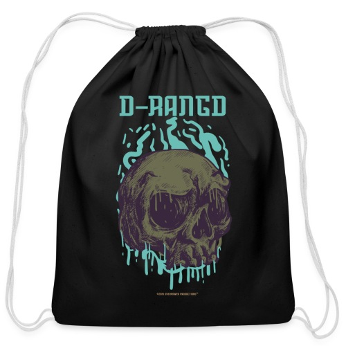 D-RaNGD Melting Skull Logo - Cotton Drawstring Bag