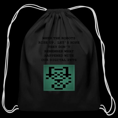 Funny Digital Pet Graphic - Cotton Drawstring Bag