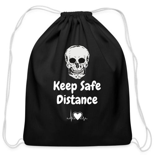 Keep Safe Distance - Cotton Drawstring Bag