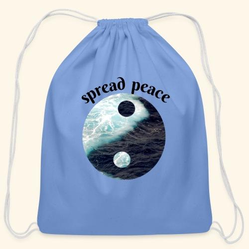 spread peace - Cotton Drawstring Bag