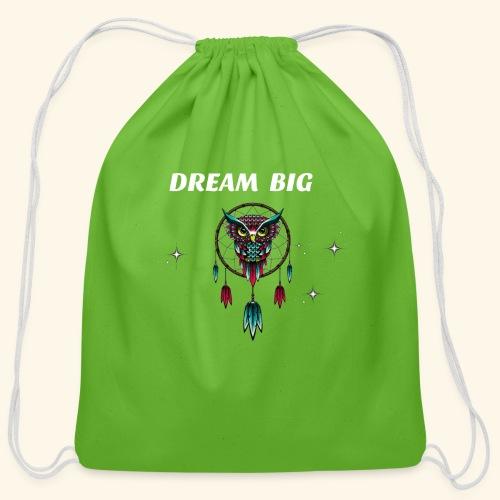 DREAM BIG OWL - Cotton Drawstring Bag