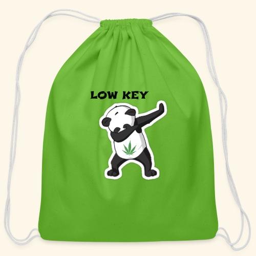 LOW KEY DAB BEAR - Cotton Drawstring Bag