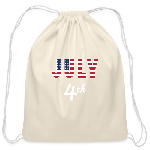 July 4th - Cotton Drawstring Bag
