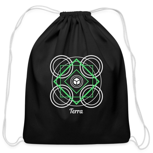Terra Earth Element Alchemy Design - Cotton Drawstring Bag