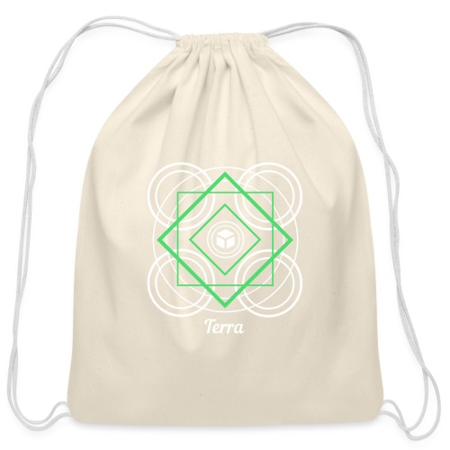 Terra Earth Element Alchemy Design - Cotton Drawstring Bag