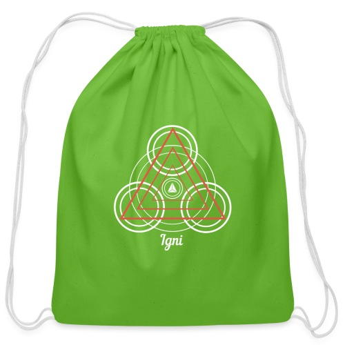 Igni Fire Element Alchemy Diagram - Cotton Drawstring Bag