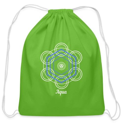Aqua Water Element Alchemy Design - Cotton Drawstring Bag