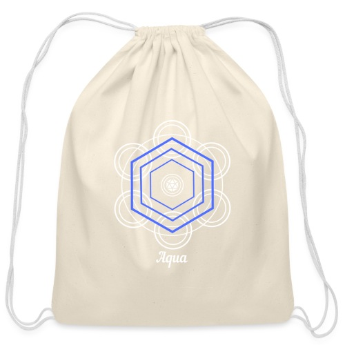 Aqua Water Element Alchemy Design - Cotton Drawstring Bag