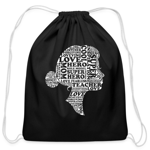 Mother Definition, Teacher Mom, Great Teacher Mom - Cotton Drawstring Bag