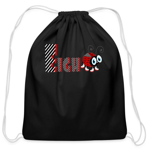 8nd Year Family Ladybug T-Shirts Gifts Daughter - Cotton Drawstring Bag