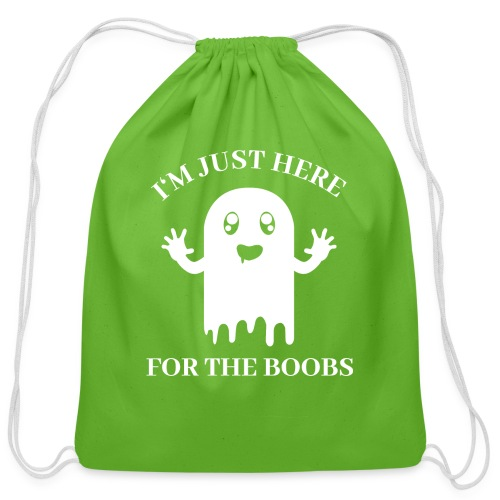 Halloween Im Just Here For The Boobs - Cotton Drawstring Bag