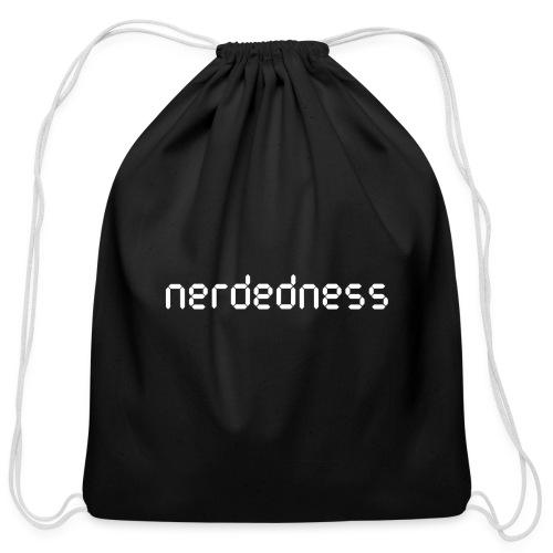 nerdedness segment text logo - Cotton Drawstring Bag