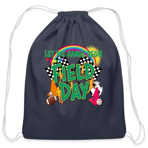 Field Day Games for SCHOOL - Cotton Drawstring Bag