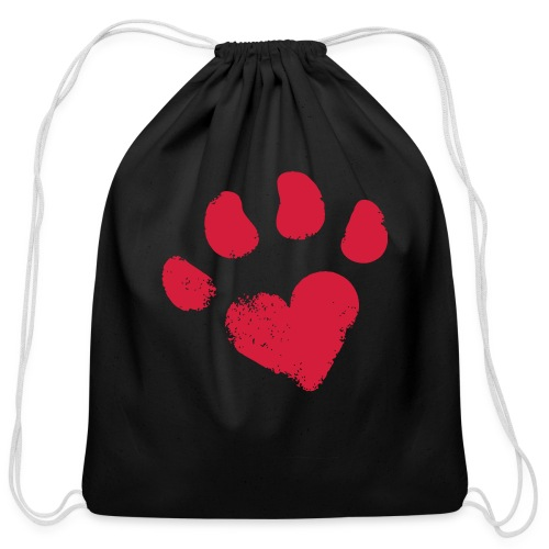 pawprint - Cotton Drawstring Bag