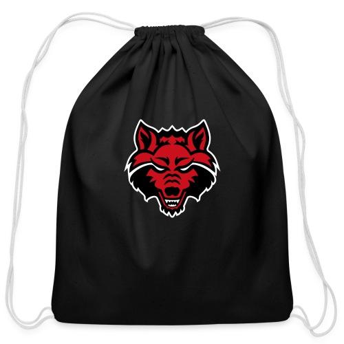 Red Wolf - Cotton Drawstring Bag