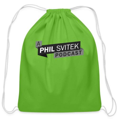 A Phil Svitek Podcast Logo ONLY Design - Cotton Drawstring Bag