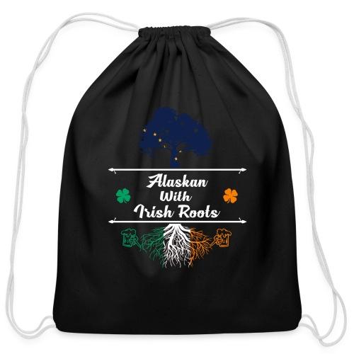 ALASKAN WITH IRISH ROOTS - Cotton Drawstring Bag